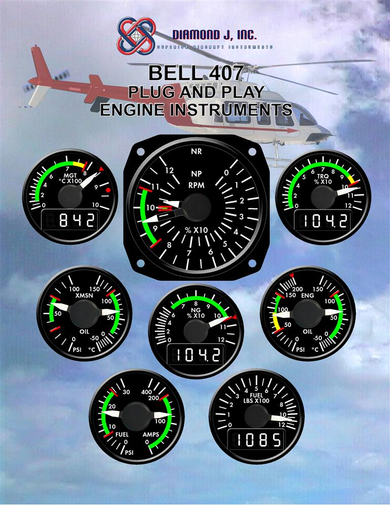 BELL 407 ANALOG INST BROCHURE PAGE 1
